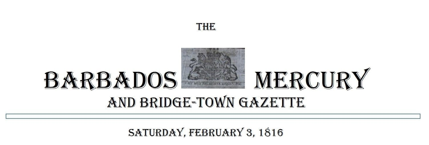 The Barbados Mercury and Bridge-Town Gazette